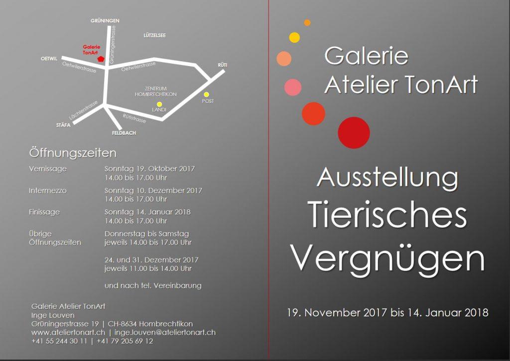 """""""Ein tierisches Vergnügen"""", Galerie TonArt AG"""